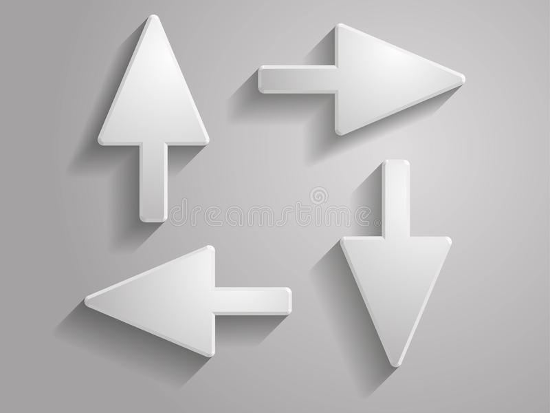 Set Vector Icon Of Arrows Illustration Stock Images