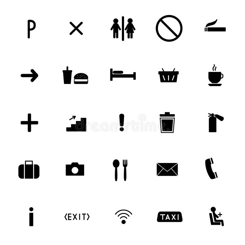 Set of vector icons flat line. public sing.  stock illustration