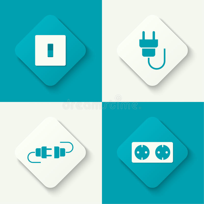 Set of vector icons vector illustration