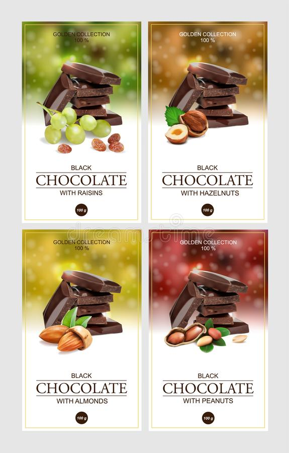 labels for chocolate. stock illustration