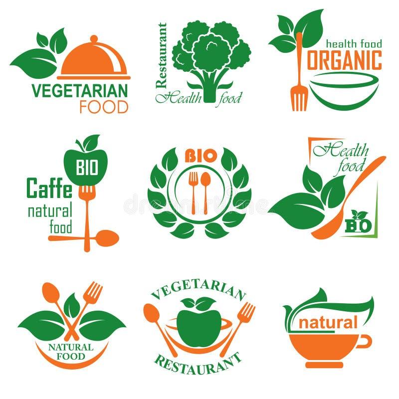 Healthy food label stock illustration