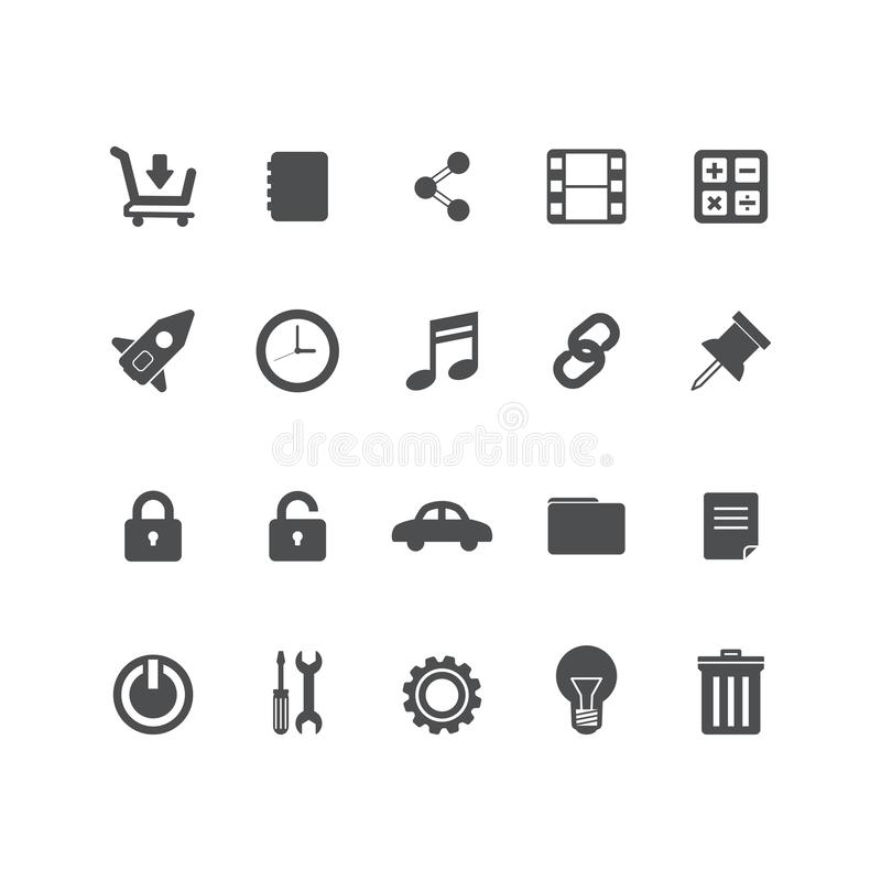 Set vector line icons in flat design office and business with elements for mobile concepts and web apps. Collection modern stock illustration