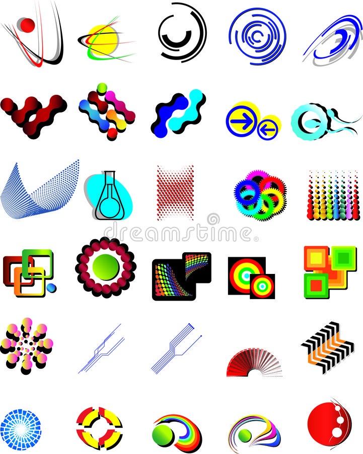 Set vector logo elements vector illustration