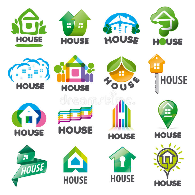 Set of vector logos homes stock illustration
