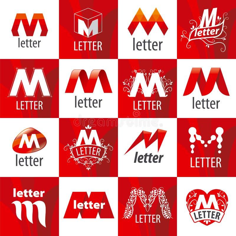 Set of vector logos letter M royalty free illustration