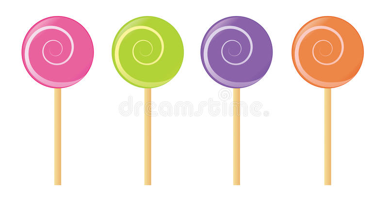Download Set of vector lollipop stock vector. Image of candy, eating - 15553767