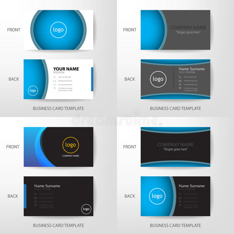 Set of Vector modern and clean business card design template stock illustration