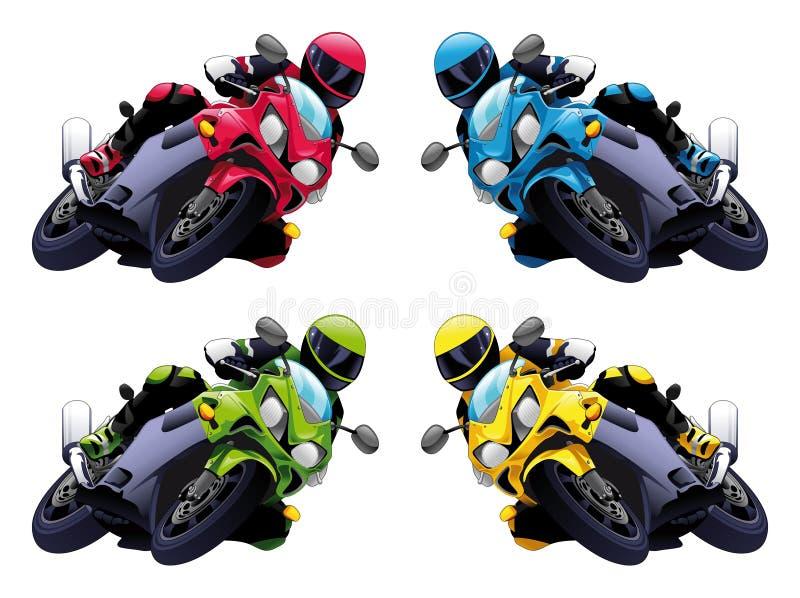 Download Set of Vector motorbikes stock vector. Illustration of transport - 9819435
