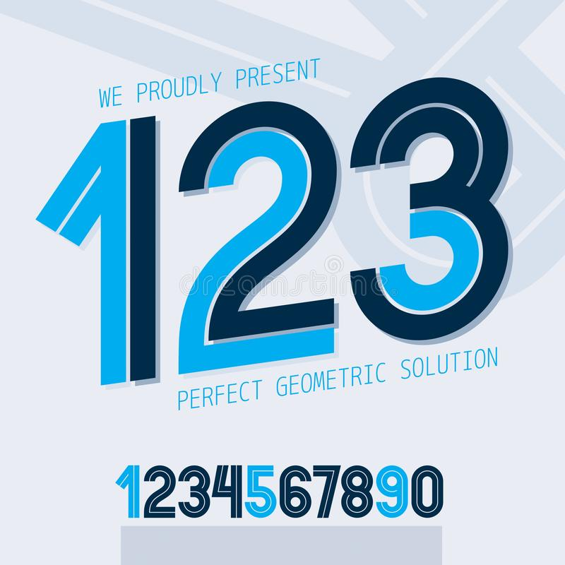 Set of vector numbers made with white lines, can be used for logo creation in public relations vector illustration