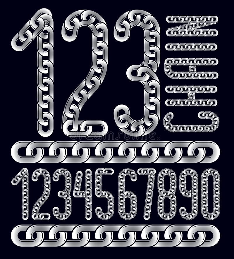 Poster Elegant Striped Font And Numbers With Black Outline ...