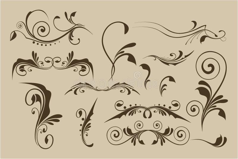Set of vector patterns for design royalty free illustration