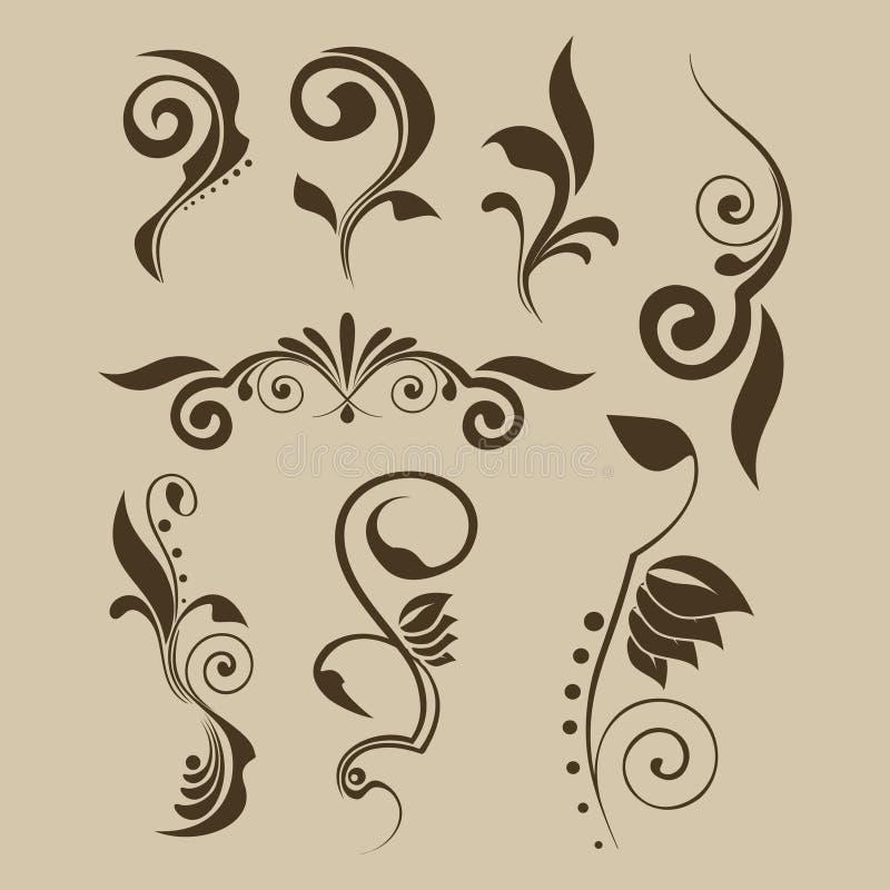 Set of vector patterns for design vector illustration