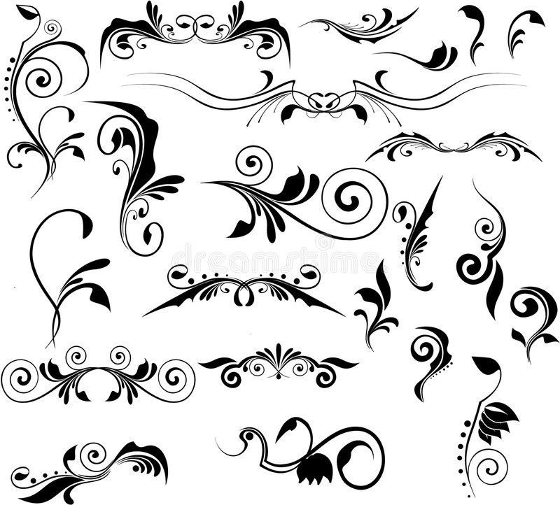 Set of vector patterns for design stock illustration