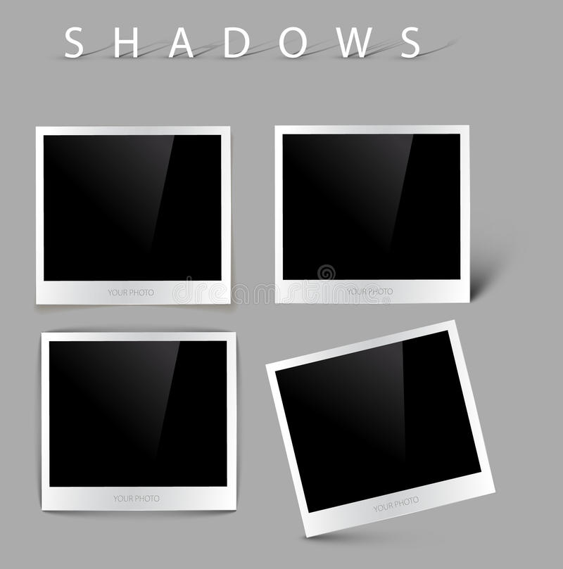 Set Of Vector Photos With Shadow Effects Stock Images