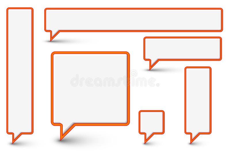 Download Set Of Vector Plastic Comic Clouds And Bubbles Stock Vector - Illustration of communicate, corners: 22495304