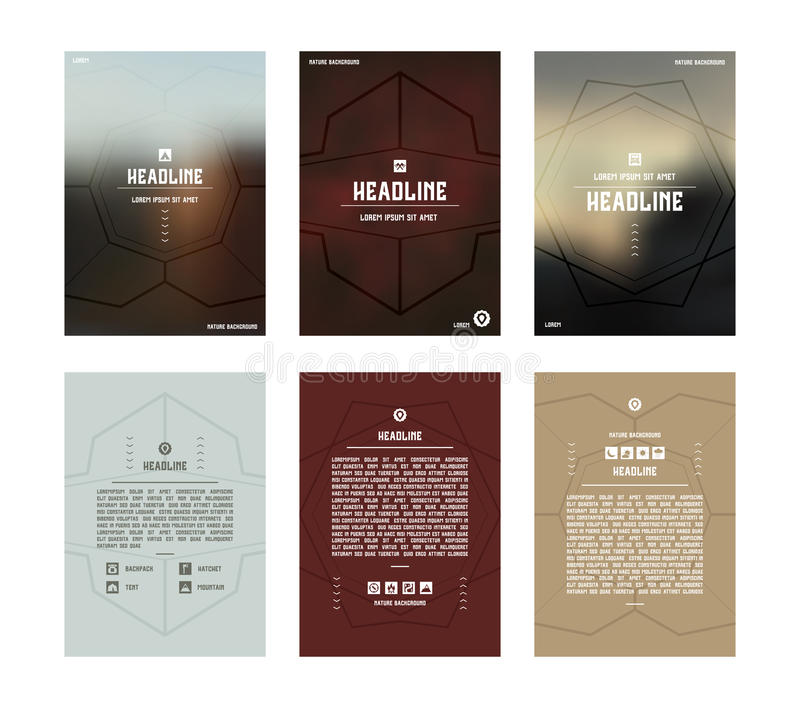 Set of vector poster templates royalty free illustration