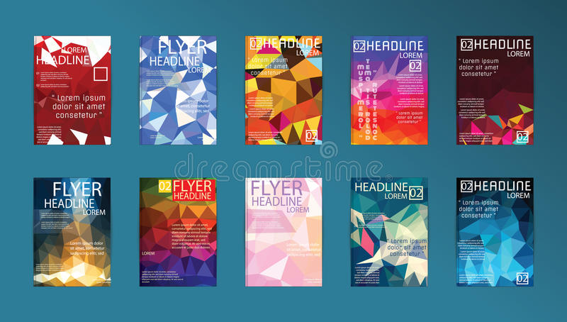 set of vector poster templates brochure design technologies app
