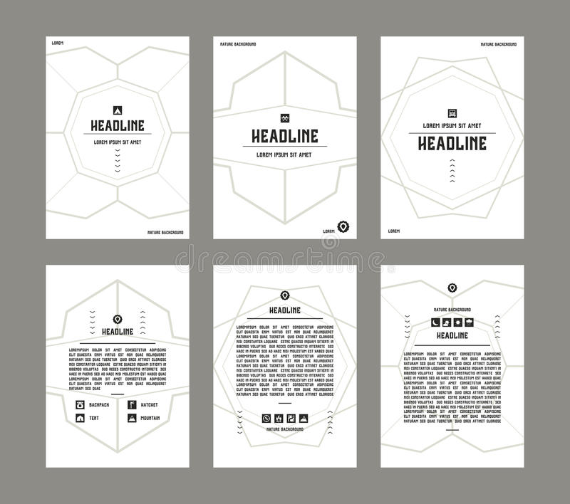Set of vector poster templates vector illustration