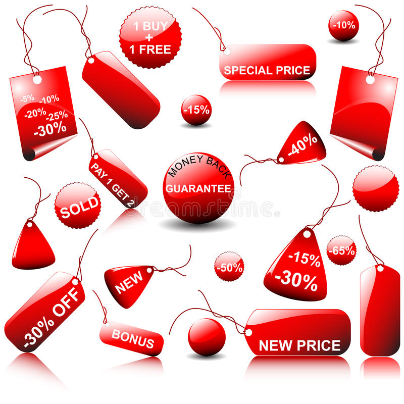 Set of vector price tags. You can use it for any sale time or seasons
