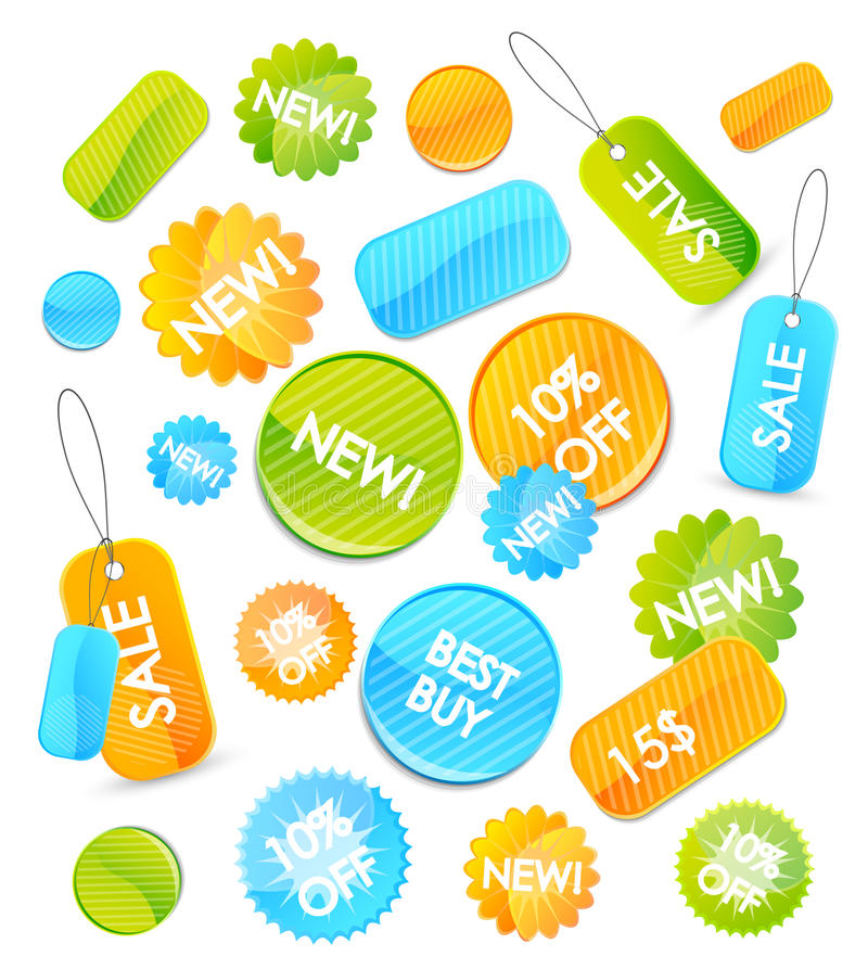 Set of vector price tags vector illustration