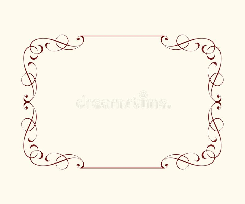Set vector retro frames .Vector illustration. stock illustration