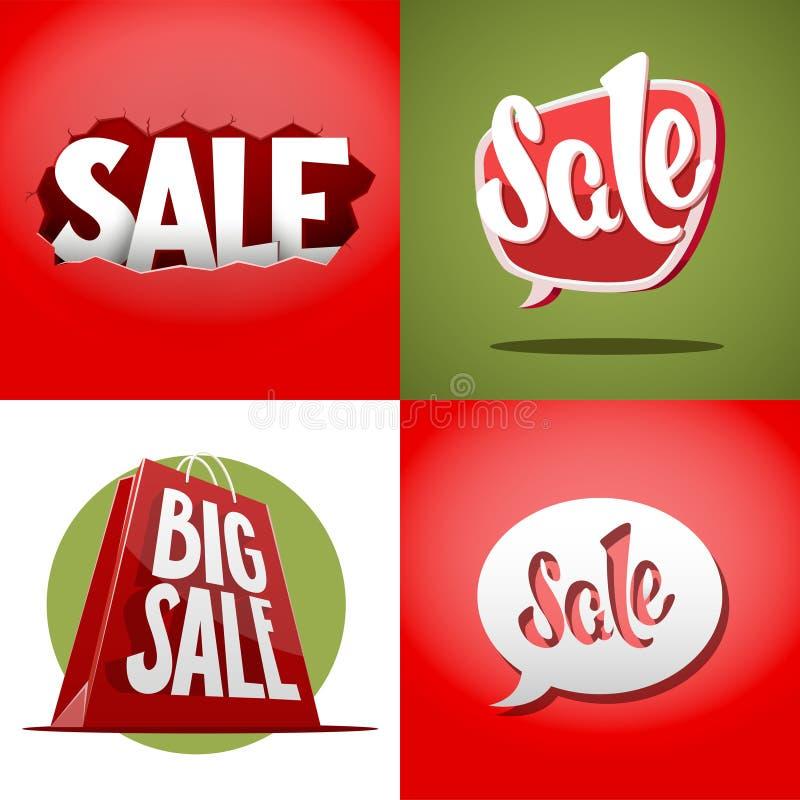 Set of vector sale labels vector illustration