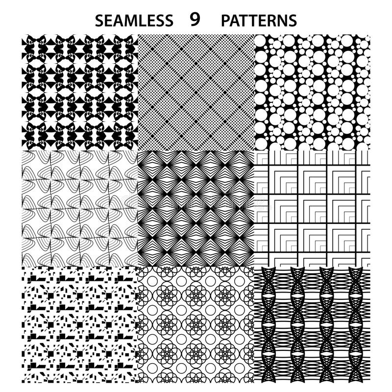 Set of vector seamless abstract pattern vector illustration