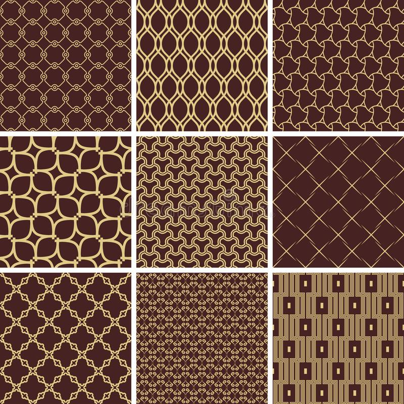 Set of Vector Seamless Geometric Backgrounds vector illustration