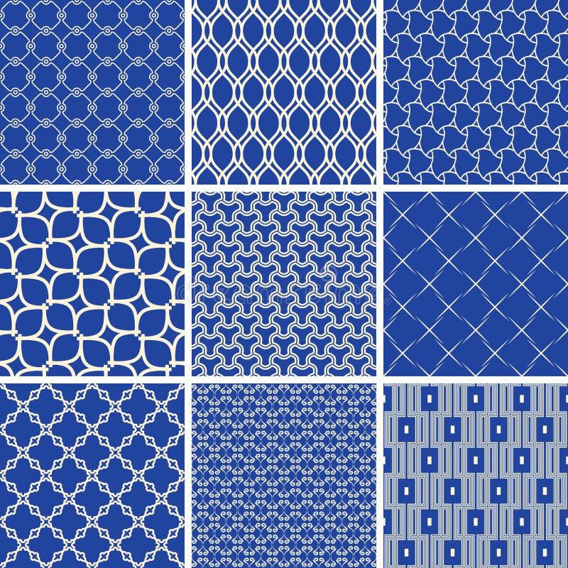 Set of Vector Seamless Geometric Backgrounds stock illustration