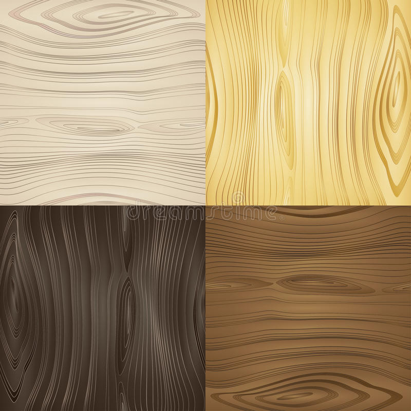 Set of vector seamless wood textures vector illustration