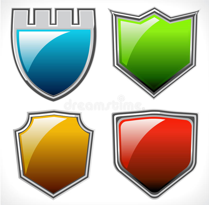 Download Set of vector shields stock vector. Image of blank, classic - 21454700