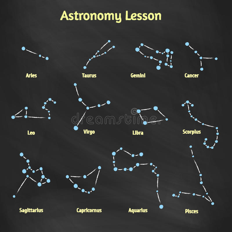 A set of vector signs of the zodiac collection constellations drawn download a set of vector signs of the zodiac collection constellations drawn on the blackboard ccuart Images
