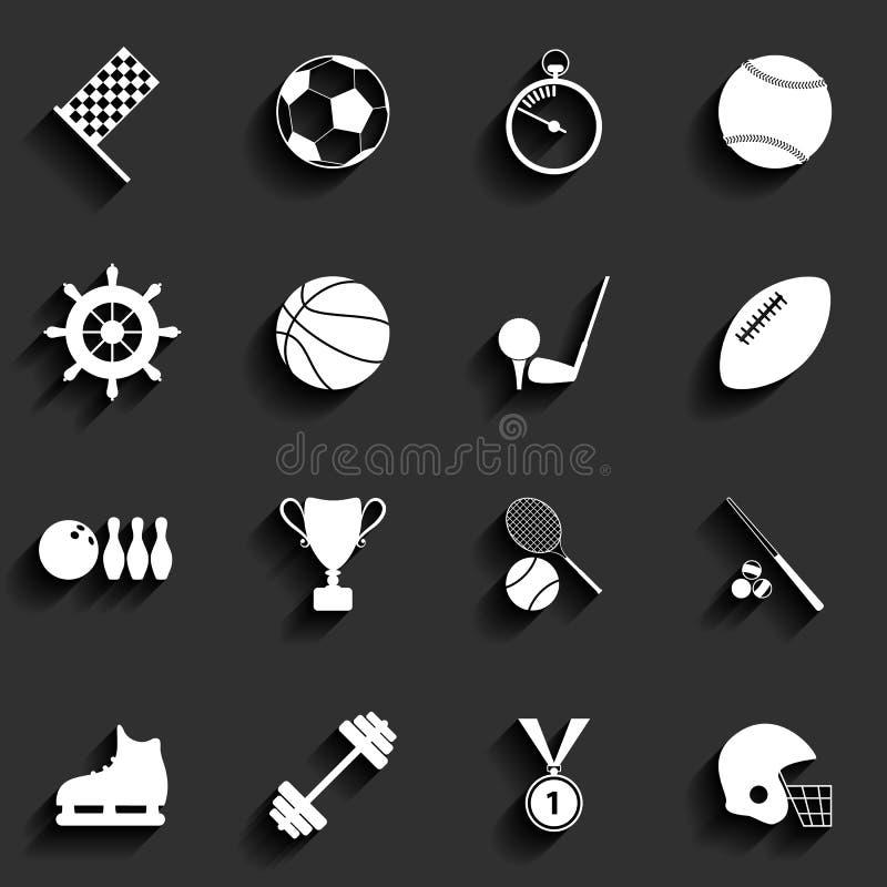 Set of vector sport icons in flat design vector illustration