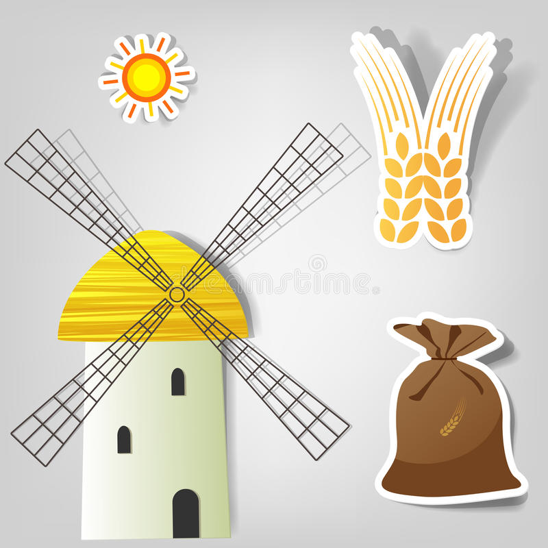 Set of vector stickers stock illustration