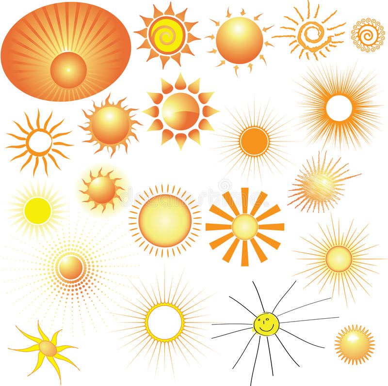 Download Set of vector Suns stock vector. Image of illustration - 11981736