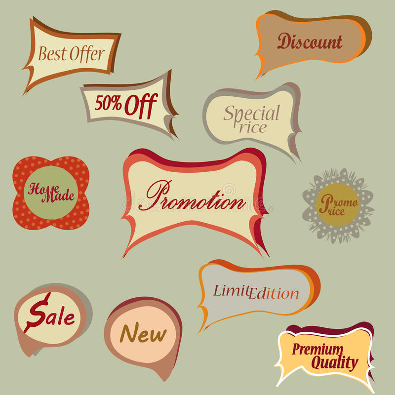 Download Set Of Vector Tags. Collection Labels Stock Vector - Image: 33567493