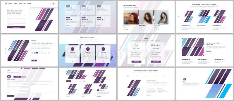 Set of vector templates for website design, minimal presentations, portfolio. UI, UX, GUI. Design of headers, dashboard, forms vector illustration