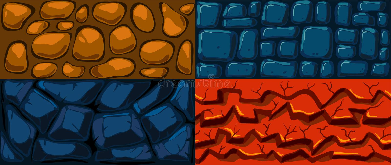 Set of vector texture. royalty free illustration