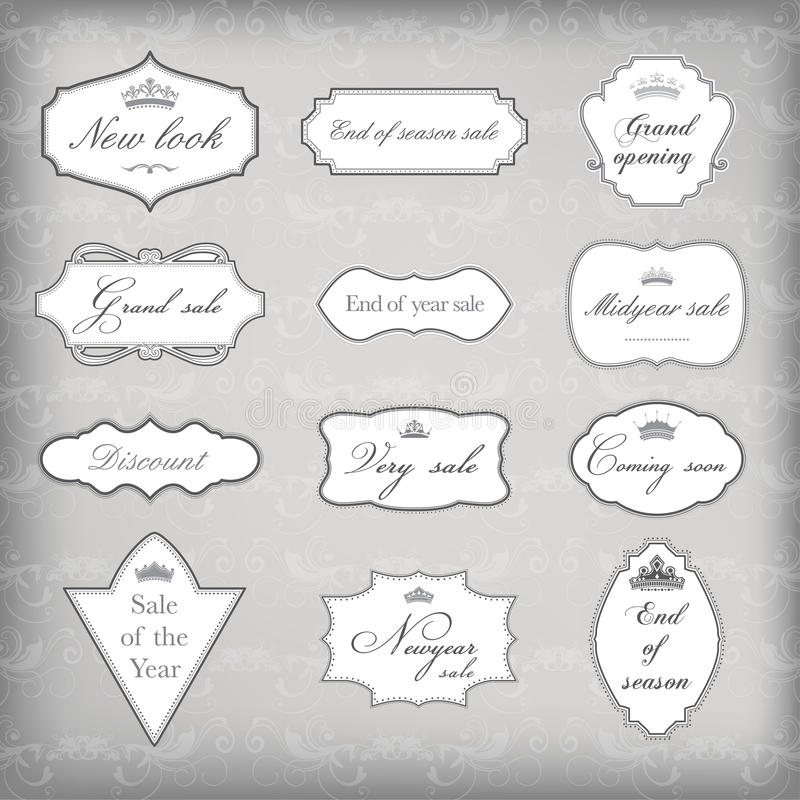Download Set Of Vector Vintage Frames Royalty Free Stock Photos - Image: 21151648