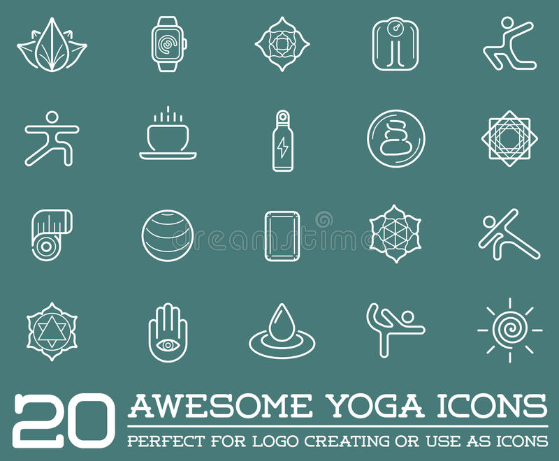 abae360d Set of Vector Yoga Zen Sport Elements. And Fitness Healthy Illustration can  be used as