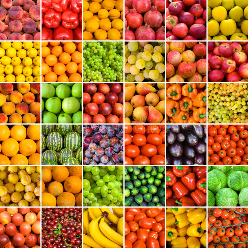 Set of vegetable backgrounds stock photo