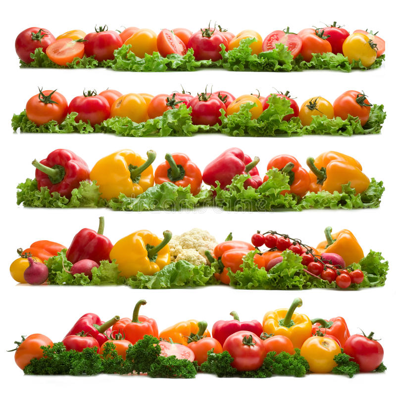 Set of vegetable backgrounds royalty free stock photos