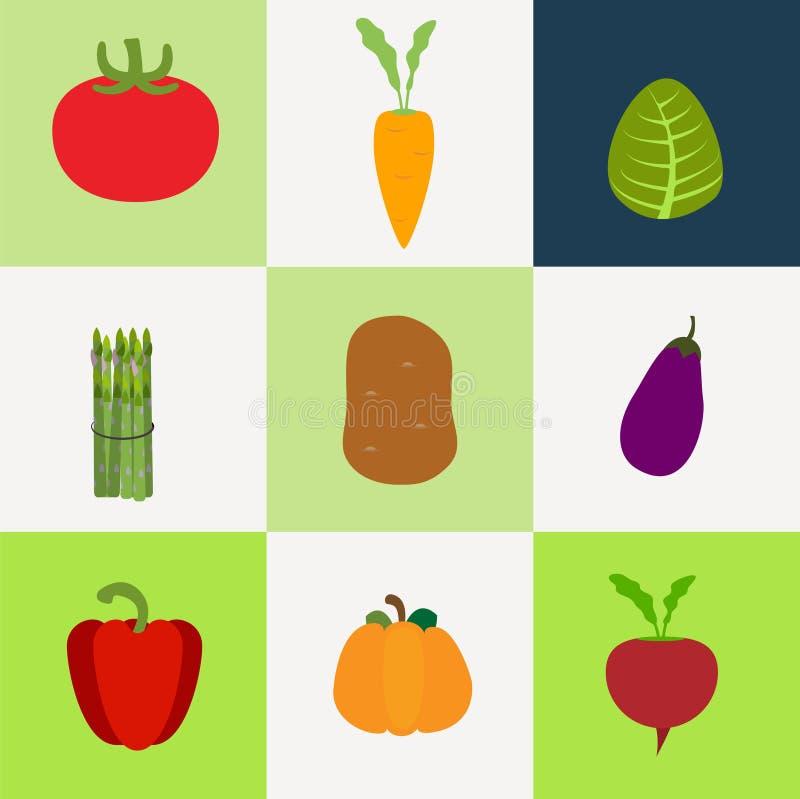Vector flat vegetable icon part 1 stock illustration