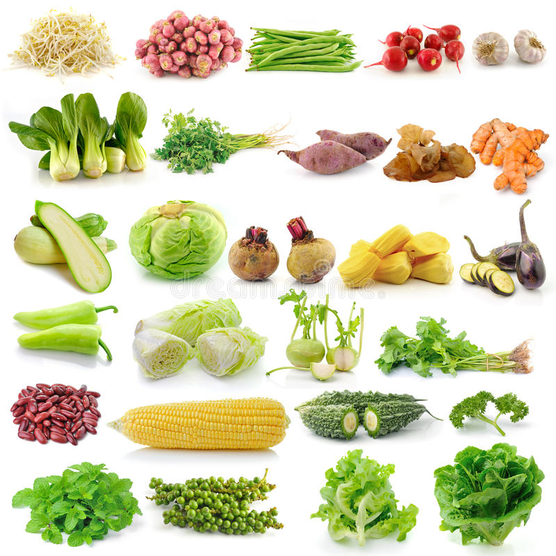 Set of vegetable royalty free stock photography