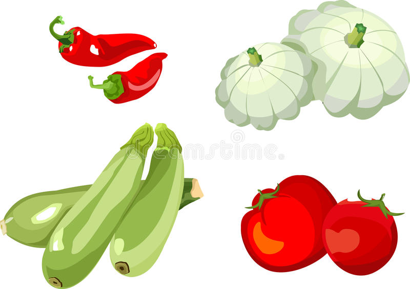 Download Set of vegetables stock vector. Image of cabbage, green - 25197032