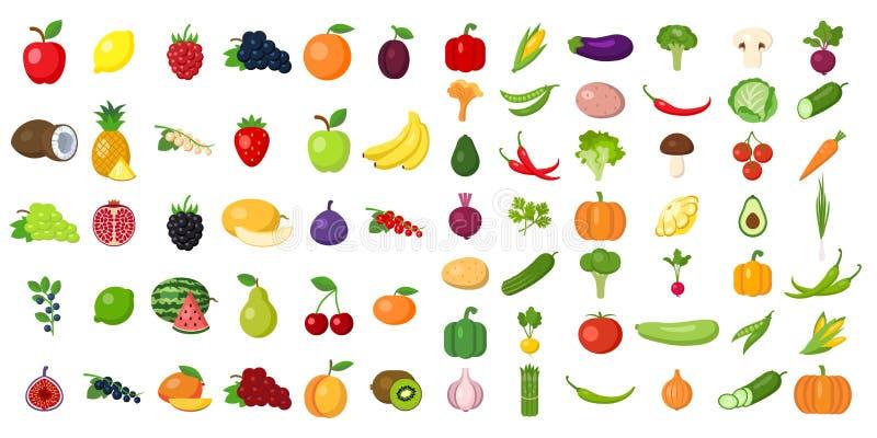 Set of vegetables. stock illustration