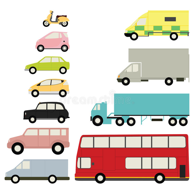 Download Set of vehicles stock vector. Illustration of transport - 14146517