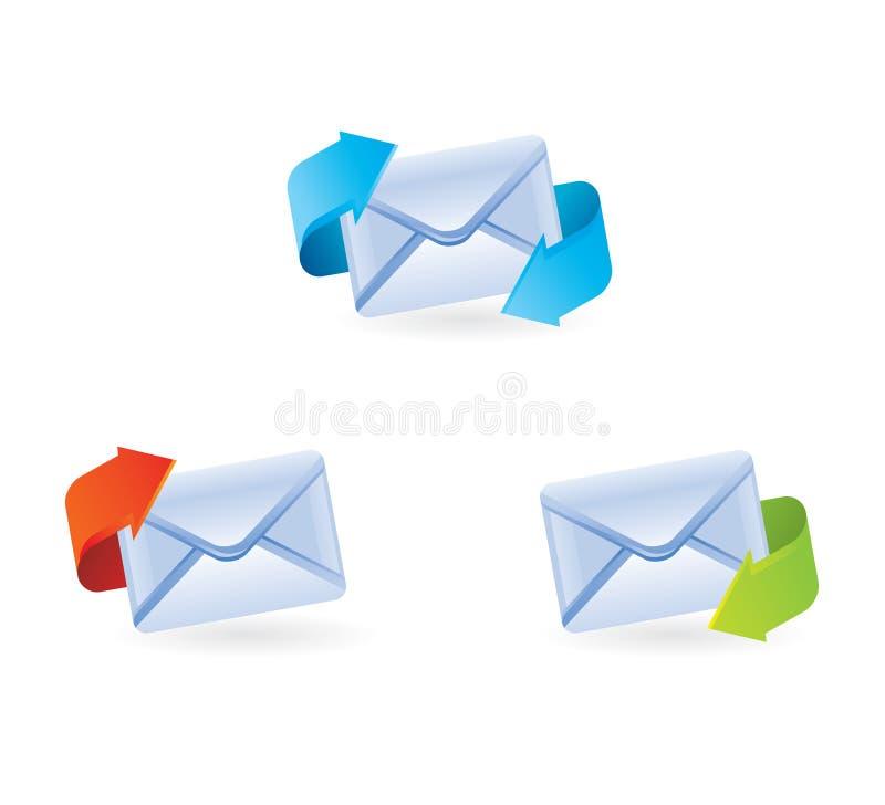 Set vektor-eMail-Ikonen lizenzfreie abbildung