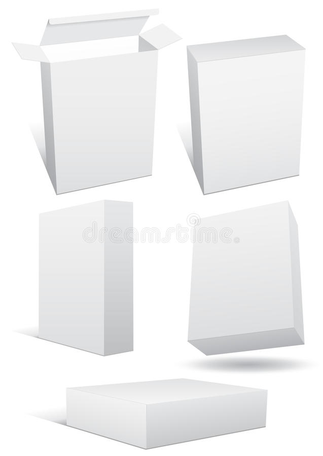 set vektor för blank askillustrationdetaljhandel vektor illustrationer