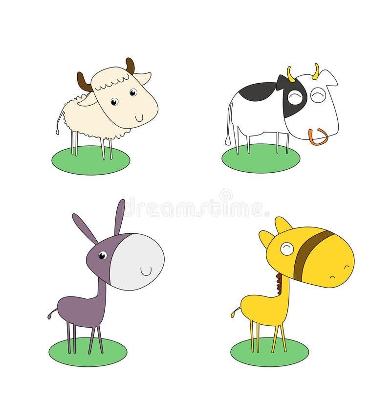 set vektor för djur lantgård fotografering för bildbyråer